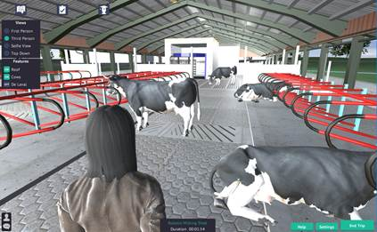 Virtual cowshed