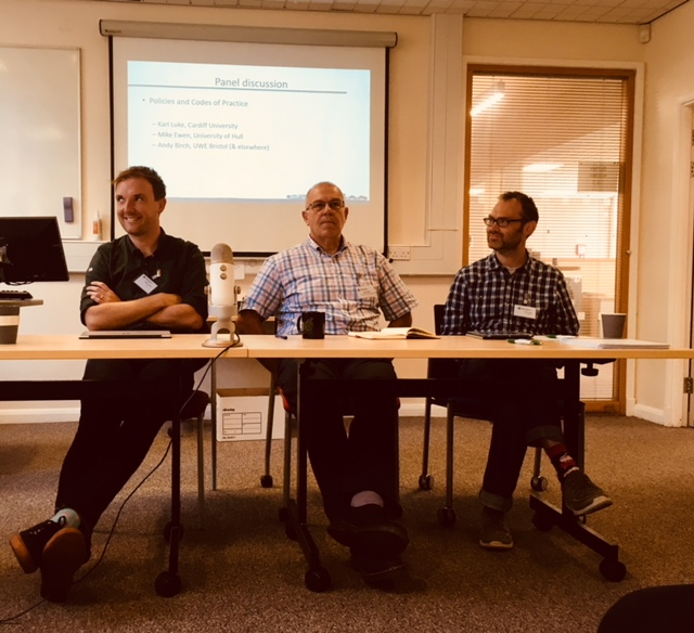 Panel session on policies with Mike Ewen (Hull), Andy Birch (UWE) and Karl Luke (Cardiff)
