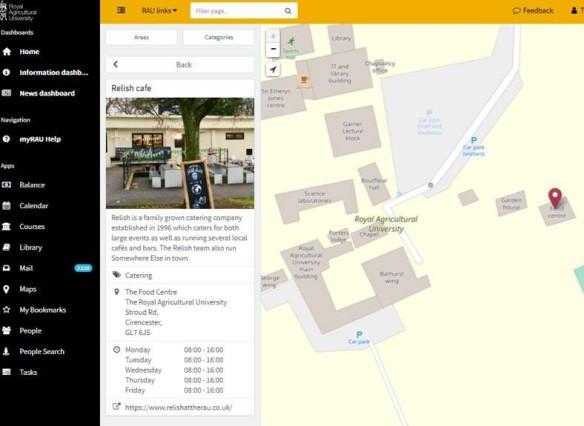 Campus map viewed on a desktop