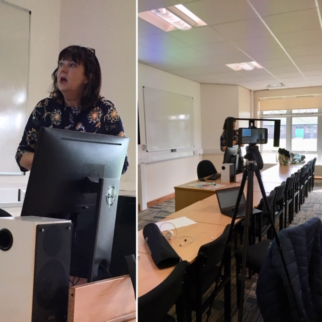 Jennie presents to our academics. The session was recorded and will be available through Panopto.