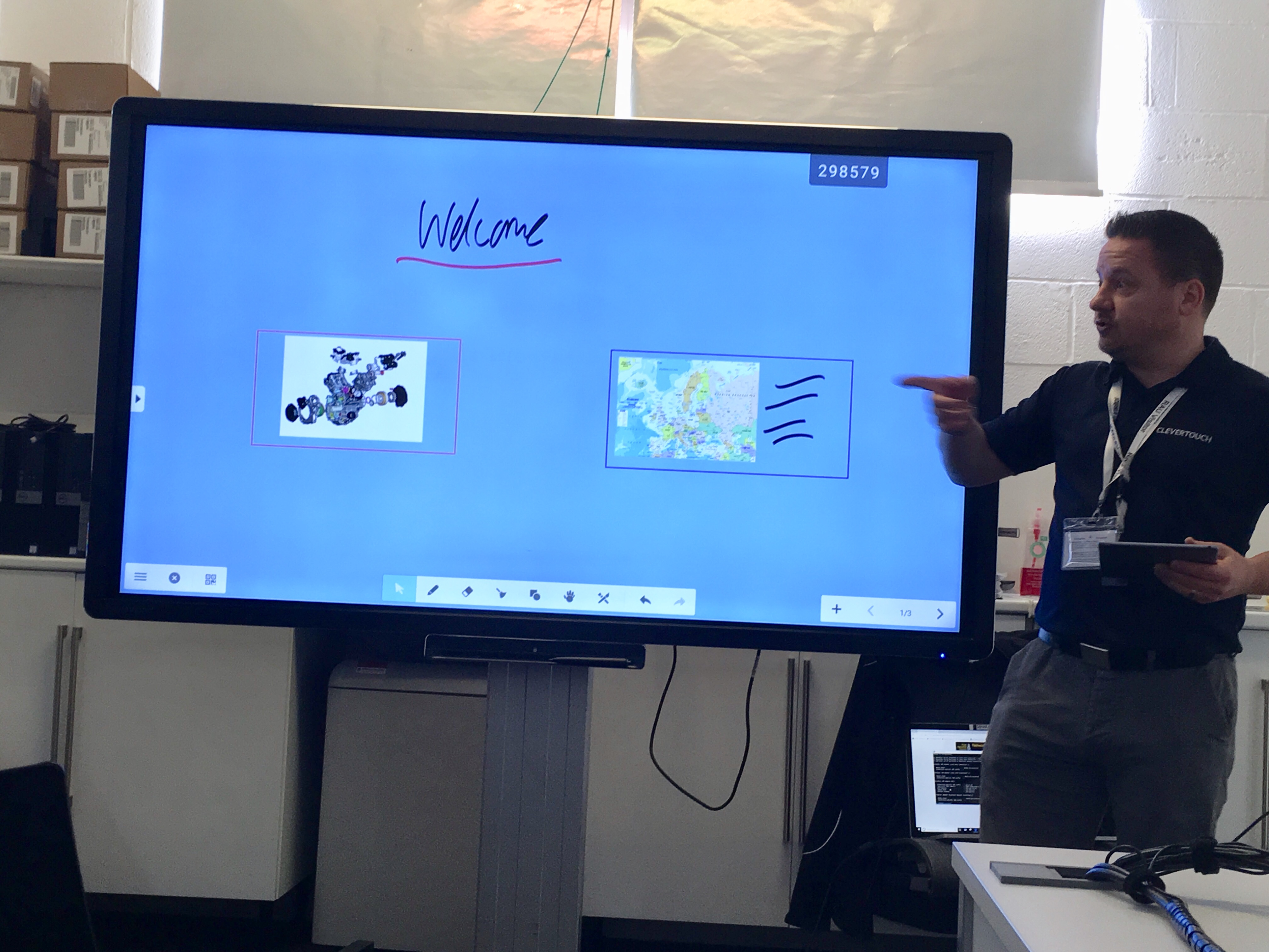 Ashley Helm demos Clevertouch