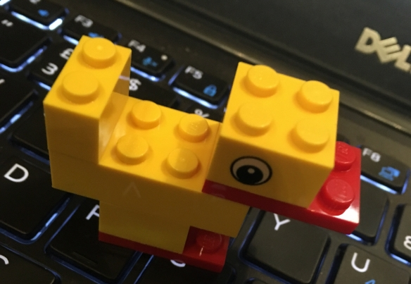 Ollie Bray had us building a lego duck during the plenary