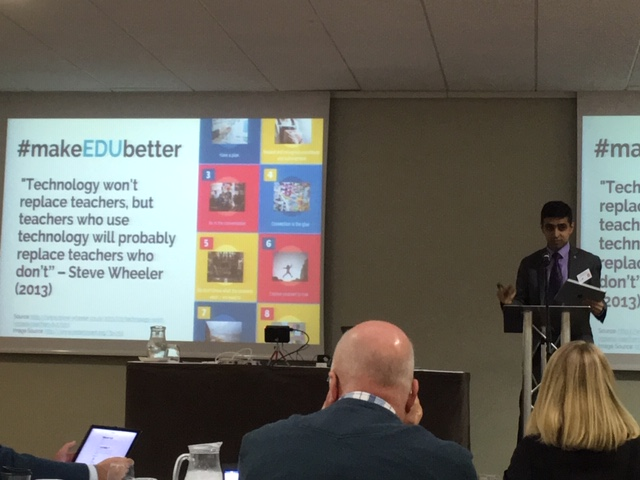 Santanu Vasant and his hashtag #makeEDUbetter
