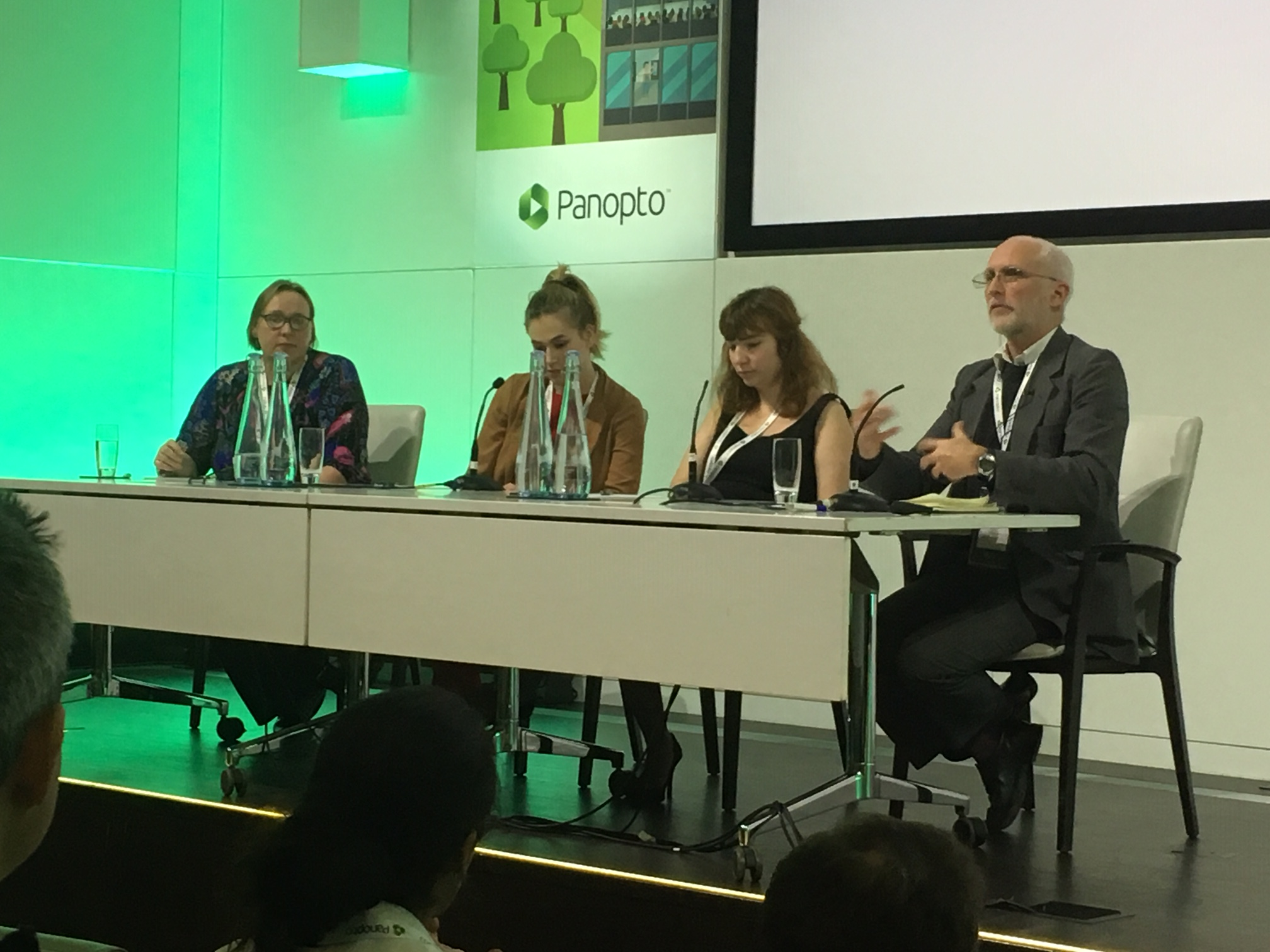 The panel on accessibility: Ros Walker, Jo Lisney, Rachel Hayes and Alistair McNaught