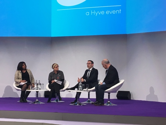 The lifelong learning panel: Cindy Rampersaud, Carmel Kent, Head of Education Data Science - UCL EDUCATE, Ken Eisner, Director, Worldwide Education Programs and Global Lead, AWS Educate - Amazon Web Services and Paolo Dal Santo, Education business Development Manager EME