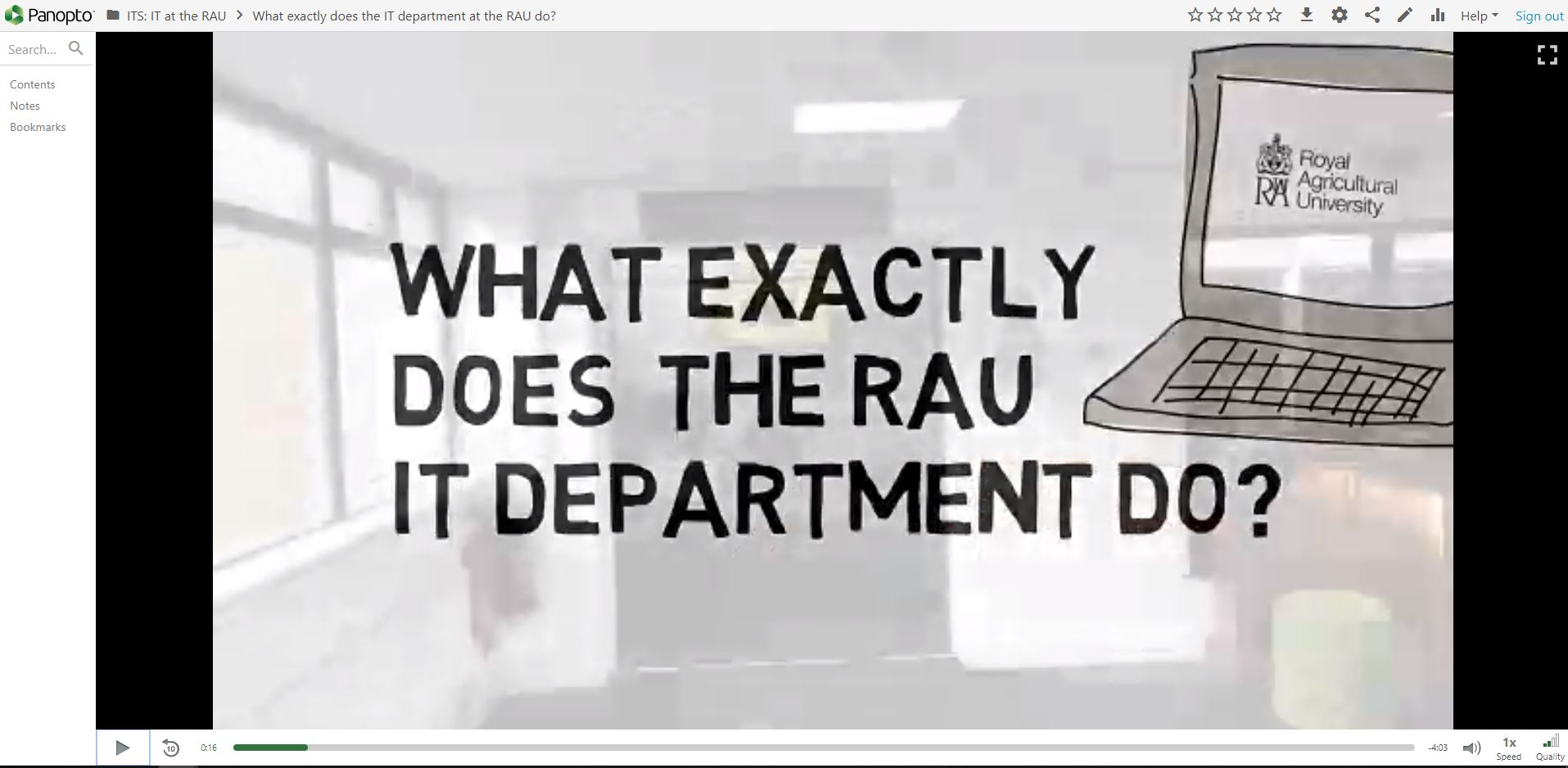 What exactly does the RAU IT Department do?