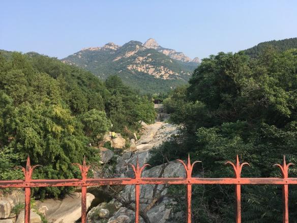 At the base of Taishan Mountain